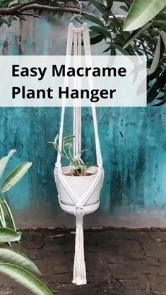 Macrame Plant Hanger Patterns, Macrame Wall Hanging Diy, Macrame Art, Macrame Projects, Macrame Plant Hanger Diy, Free Macrame Patterns, Macrame Knots, Diy Projects, Diy Crafts Hacks