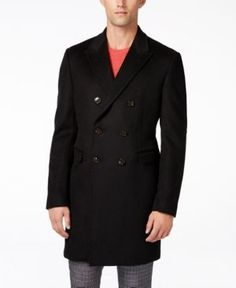 Lauren Ralph Lauren Lawrenceville Solid Classic-Fit Overcoat - Black 44R