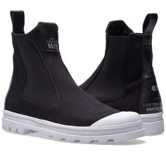 Stone Island Shadow Project Canvas Combat Boot (Black)