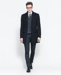 Image 1 of COAT WITH DETACHABLE WAISTCOAT from Zara