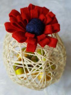 Uova di Pasqua in filo di cotone - Easter eggs