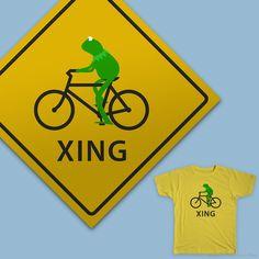 Kermit Crossing on Threadless