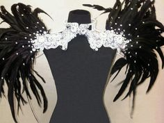 Showgirl Drag Queen Cabaret Burlesque Costume Feather Shoulder | eBay