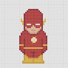 Cross stitch DC Comics Justice League Flash.