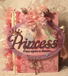 """Cindy A~""""Disney PRINCESS"""" Girl Shabby premade scrapbook album"""
