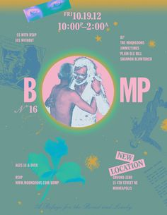 BOMP Flyers by Travis Stearns, via Behance