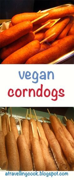 Tasty vegan corndogs