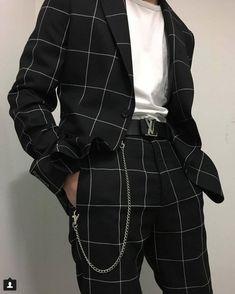Fashion Kids, Urban Fashion, Korean Fashion Men, Trendy Fashion, Fashion Black, Fashion Spring, Guy Fashion, Swag Fashion, Trendy Style