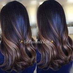 Golden and Caramel Brown Balayage Highlights for Brunettes