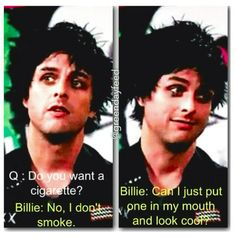 That awkward moment when Billie Joe is Augustus Waters