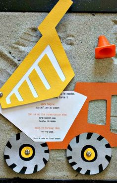Construction Themed Party Invitation Idea