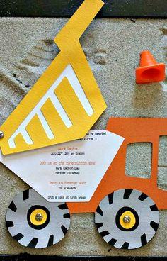 Construction Themed Party Invitation Idea