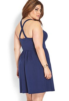 Effortless V-Neck Dress | FOREVER21 PLUS - 2000107940