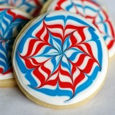 4th of July Fireworks Cookies