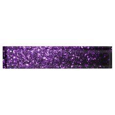 SOLD! Purple glitter sparkles Desk Name plate by #PLdesign #PurpleSparkles #SparklesGift