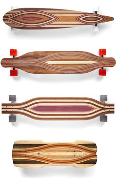 beautiful wood skateboards/longboards