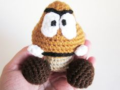 Video Game Baby RATTLE Goomba Inspired by by TheSilverHook on Etsy, $22.00