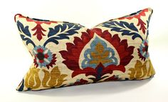 Waverly Santa Maria Gem Lumbar Pillow Cover, Decorative Pillow, Cushion, Toss Pillow via Etsy