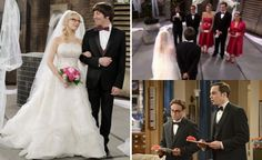"Bernadette and Howard Wed on ""The Big Bang Theory."" Weddings aren't my ""thing,"" but Bernadette's dress was gorgeous!"