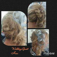 Side curls with fascinator