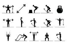 Fitness Icon Set Fitness icon Icon set Popular workouts