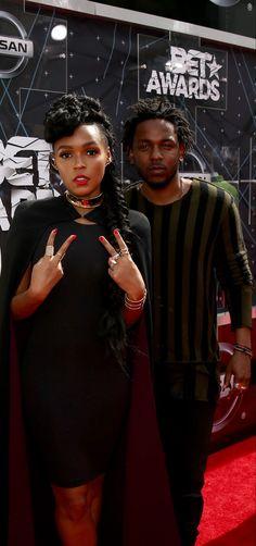Janelle & Kendrick at 2015 BET Awards - Red Carpet