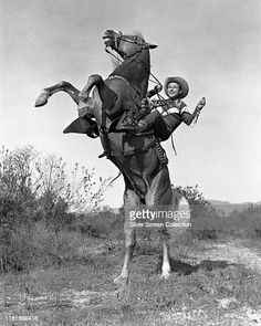 American actor and singer Roy Rogers on horseback, circa 1950. News Photo - Getty Images Roy Rogers, Happy Trails, Still Image, American Actors, The Outsiders, Batman, Singer, Superhero, News
