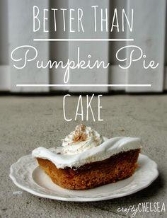 Crafty Chelsea: Better Than Pumpkin Pie Cake
