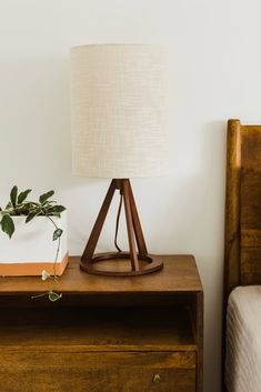 Bedside Lamps Wood, Tripod Table Lamp, Nightstand Lamp, Table Lamps For Bedroom, Bedside Lighting, Bedroom Decor, Aesthetic Room Decor, Home Accessories, Comfort Room