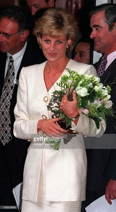 27 June 1996 Princess Diana At The Mortimer Market Centre In London For The Aids Crisis Trust