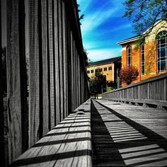 Black and White. Meets. Color. By Withoutink.  #bridge #bw #sky #shadow #building #photograph