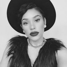 Full Look. Beauty. Makeup. Eyes. Lips. Lashes. Spotted via @itsmyrayeraye's photo on Instagram