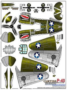 Playing and Crafting: Curtis Cardboard Airplane, Paper Airplane Models, Cardboard Model, Model Airplanes, Paper Planes, Paper Model Car, Wallpaper Crafts, 3d Templates, Paper Aircraft