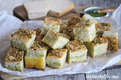 Foccacia Parmesan, Pesto, Camembert Cheese, Nom Nom, Bakery, Food And Drink, Healthy, Recipes, Breads