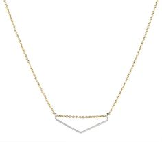 Limbo Jewelry, Chevron Necklace, Mixed Metal, Gold and Silver, Handmade in Austin, TX