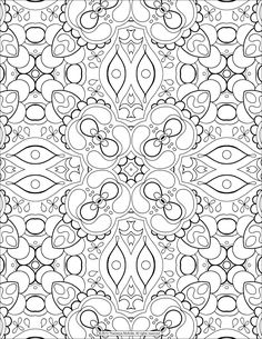 Раскраска Сложный симметричный узор
