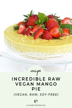 I can't get over this raw vegan mango pie. I'm obsessed! Not only is it healthy and incredibly delicious, it's beautiful, too. This recipe is: Healthy, Raw, Gluten-free, Dairy-free, Soy-free, Vegan, Tree Nut-free, Plant-Based, No-Bake, and Naturally Sweetened. I used this raw vegan mango pie recipe on Father's Day, and my dad absolutely loved it. You could try it for a summer BBQ too! Click through to get the full recipe to try today.