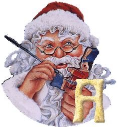 Alfabetos Lindos: Alfabeto Papai Noel pintando!