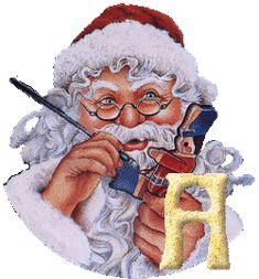 Alfabeto Santa pintando juguetes.