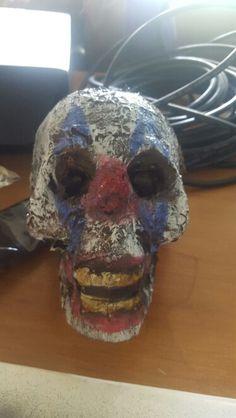 Rotten skull turned clown