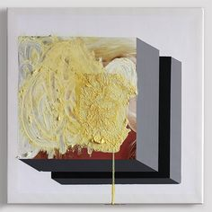 Cream pie 3 2015 50 x 50cm oil, acrylic and inkjet on canvas