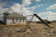 An Old School Near Miles City Montana Photograph - An Old School Near Miles City Montana Fine Art Print