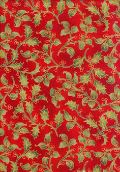 Art Nouveau Christmas - Red Large Holly