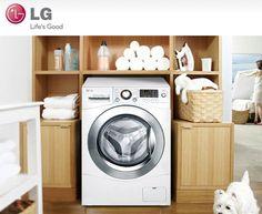 A Lavadora e Secadora de Roupas LG conta com seis movimentos de lavagem e sistema inteligente para realizar suas funções