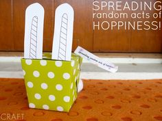 Easter Treats for Everyone - Spreading Random Acts of Hoppiness via C.R.A.F.T. >> #WorldMarket Easter Traditions, Random Acts of Kindness, Easter Brunch, Printables