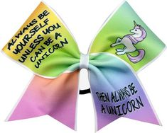 Always be a Unicorn Cheer Bow-