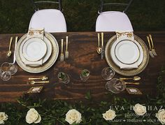Gorgeous gold tablescapes work any time of year! Photo by Design by Gold Chargers, Chiavari Chairs, Showcase Design, Ottawa, Event Decor, Tablescapes, Table Settings, Events, Green