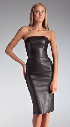 47 Wonderful Leather Dress Design Ideas That Inspire You Black Leather Dresses, Faux Leather Dress, Leather And Lace, Sexy Outfits, Sexy Dresses, Dress Outfits, Botas Sexy, Leder Outfits, Leather Fashion