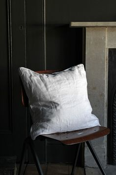 Lisbon Soft Linen Cushion - Silver Grey from Rockett St George