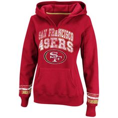 Oh, well, hello there...    San Francisco 49ers Red Women's Pre-Season Favorite II Hooded Sweatshirt